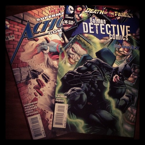 @DCComics #newdcday #actioncomics #detectivecomics #superman #batman #deathofthefamily #comics #comicbooks #dccomics #collectibles #instapic #instacool #instagood #instagram