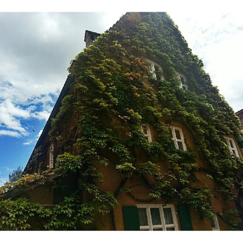 Amazing view of a house at Fuggerei,  Augsburg..