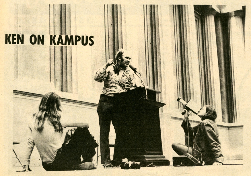 Ken Kesey at the Greek Theatre on the U.C. Berkeley campus in 1970