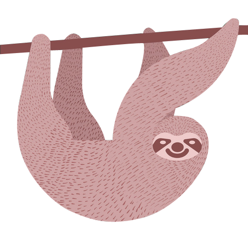totallytransparent:  Transparent Sloth (original art by alandalbyillustration)Edited by Totally Transparent