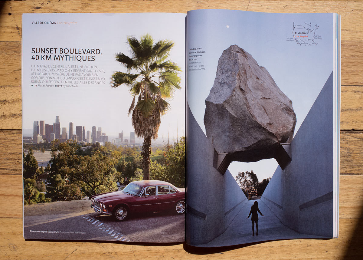 ryanschude:  Cover story in this month's Air France Magazine about Los Angeles. Check out the whole feature alongside spreads from Mary Ellen Mark and Martin Schoeller HERE ©Ryan Schude