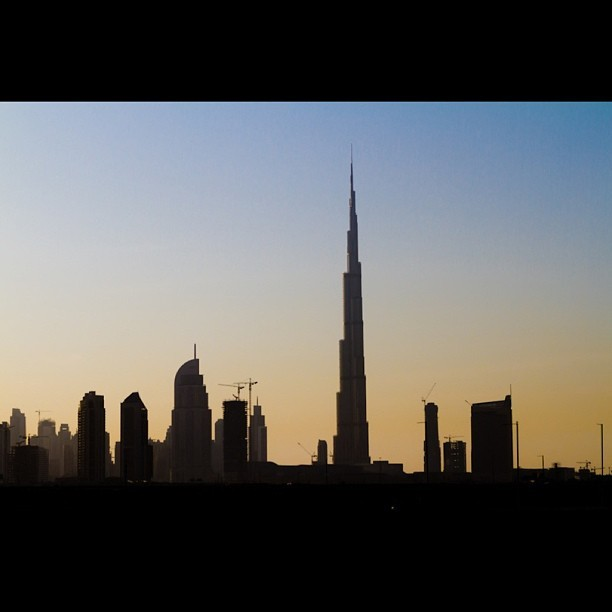 #Tbt Shot i took of the Sunset Silhouette of the Burj Khalifa and the skyline in Dubai a couple days after the 2012 New Year. Awesome place to go