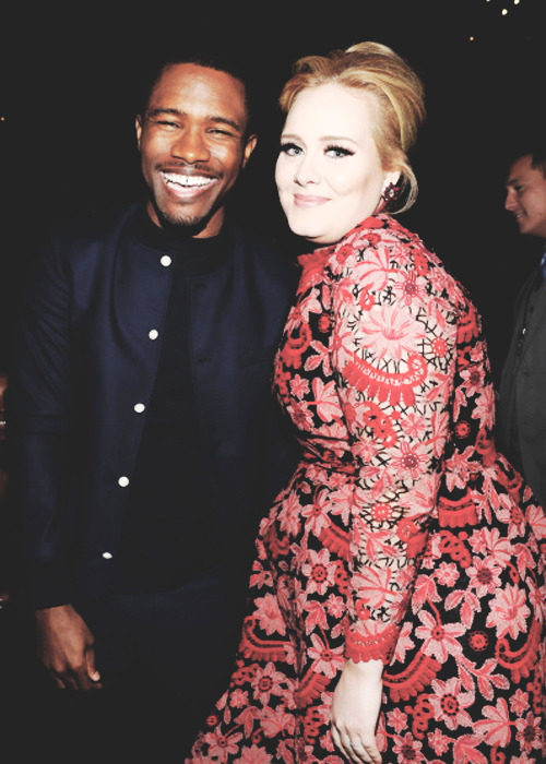 swishakay:  Two of the best in the music industry…Frank ocean and Adele at the grammys!  hey people i love hey