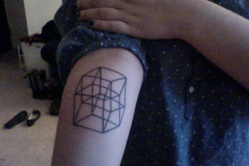 Number 6: a tesseract. Hoorary, science and math and nerdy things.