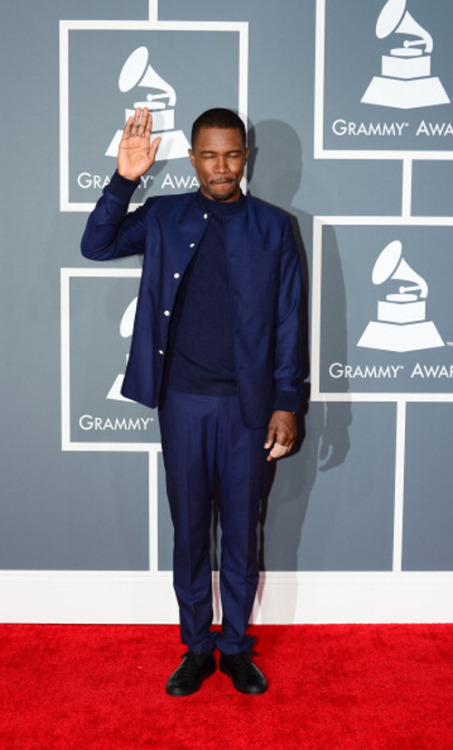 elina-rose:  imwithkanye:  Adorkable. Frank Ocean on the red carpet.  I love you