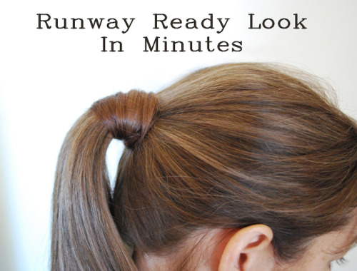 truebluemeandyou:  DIY Easiest Wrapped Ponytail Ever Tutorial from Artzy Creations here.