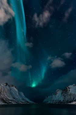 o-dyssea:  astratos:  Aurora Borealis in Ersfjordbotn, Norway  beautiful