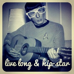 """Live Long & Hip-Star"" #hipster #Spock #StarTrek #SciFi #guitar #music"