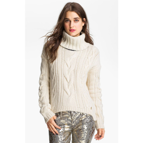 Juicy Couture sweater   ❤ liked on Polyvore (see more chunky cable knit sweaters)