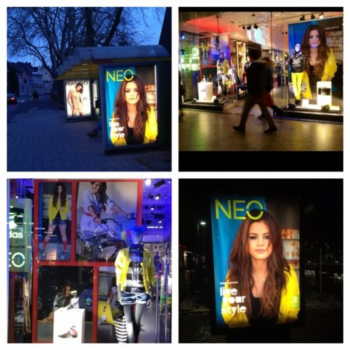 Selena's billboards of Adidas NEO in Germany!