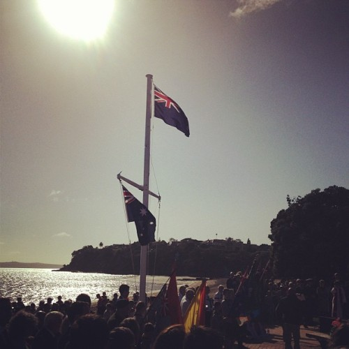 Lest we forget (at St Heliers Beach)