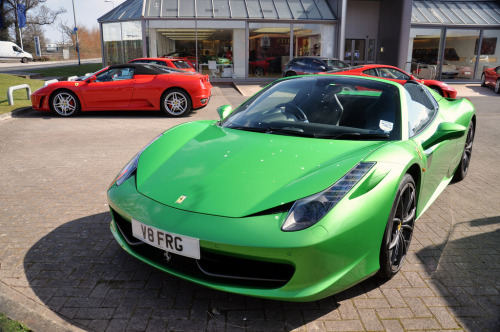 Kermit the frog Starring: Ferrari 458 Spider (by Matt-Hill)
