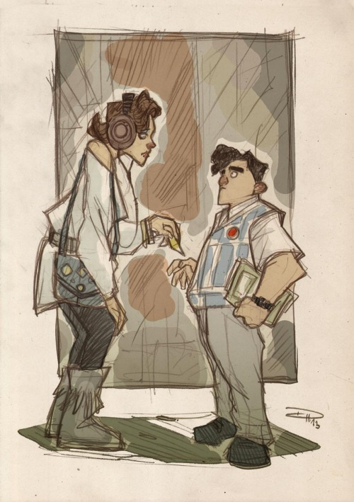 geek-art:  Denis Medry - STAR WARS 80's High School  OK, I guess this is a major AWESOMENESS ALERT. Denis Medry, after having rocked our minds with his Batman in a rockabilly universe, strikes back, this time with Star Wars. What if the best story ever happened in a 80's High School ? Genius. Fun. Uber creative. Denis, you rock. More pics in the whole article ! Via