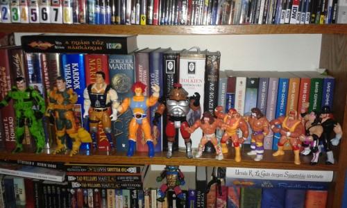 My geeky 80's shelf.