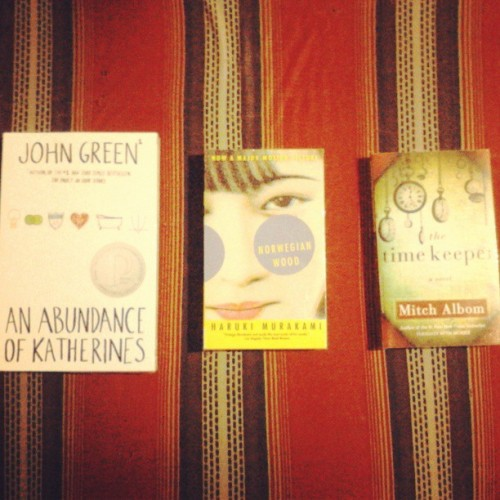 New reads!! Birthday unlimited :) #myloveforbooks #teehee