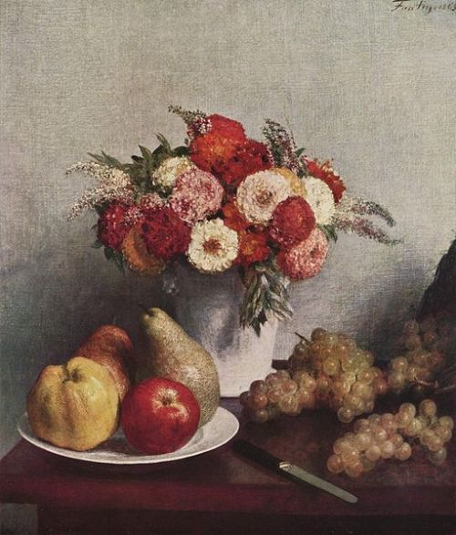Henri Fantin-Latour, Still Life with Flowers and Fruit, 1865