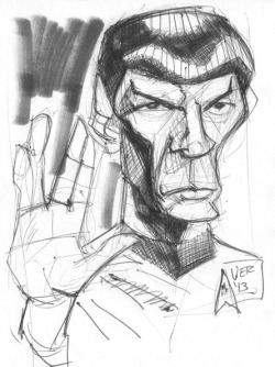 mr spock sketch