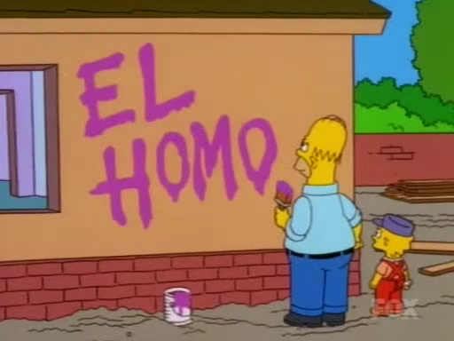 worstsimpsonspageever:  If Bart can be El Barto…