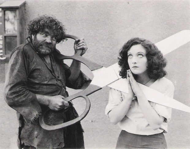Young Joan Crawford, a huge pair of scissors, and a hobo.