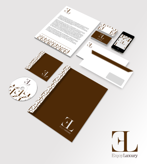 New brand identity of a Italian Luxury Car Hire Services, Enjoy Luxury.Designed by: That's Com Italian Adv Agency