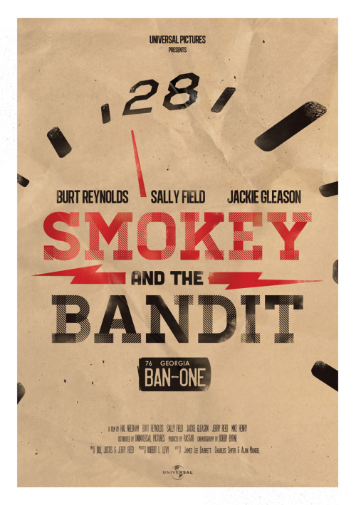SMOKEY AND THE BANDIT (inspired) POSTER