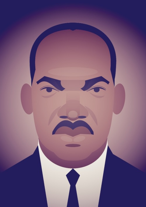 stanleychowillustration:  Remembering MLK.