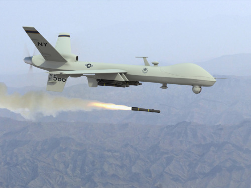 Drone Strike Limitations Considered By Congress After Justice Department Memo Surfaces    WASHINGTON — Uncomfortable with the Obama administration's use of deadly drones, a growing number in Congress is looking to limit America's authority to kill suspected terrorists, even U.S. citizens. The Democratic-led outcry was emboldened by the revelation in a newly surfaced Justice Department memo that shows drones can strike against a wider range of threats, with less evidence, than previously believed. The drone program, which has been used from Pakistan across the Middle East and into North Africa to find and kill an unknown number of suspected terrorists, is expected to be a top topic of debate when the Senate Intelligence Committee grills John Brennan, the White House's pick for CIA chief, at a hearing Thursday. Read more>     Increased SurveillanceMilitary drone manufacturers are looking for civilian uses for remote sensing drones to expand their markets and this includes the use of drones for domestic surveillance. Drones will no doubt make possible the dramatic expansion of the surveillance state. With the convergence of other technologies it may even make possible machine recognition of faces, behaviours, and the monitoring of individual conversations. The sky, so to speak, is the limit. [Source]