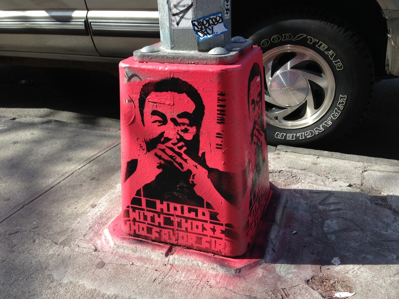 "LABS: New @aiww #streetart spotted in the Burg, ""I Hold With Those Who Favor Fire"" by B.D. White"