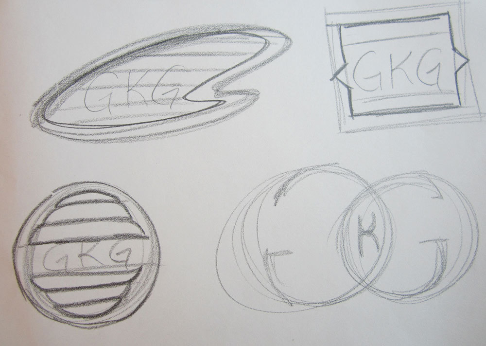 3rd round of rough logo drafts.