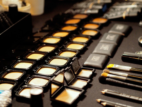 FIRST LOOK : NARS Radiant Cream Compact Foundation backstage at 3.1 Phillip Lim. Set to hit stores all the way in August, this lightweight foundation gave models their lit from within glow backstage, but more on that later!