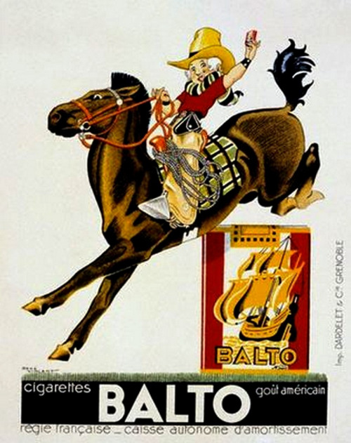 The 1930s-1935 ad for Balto cigarettes (by april-mo)