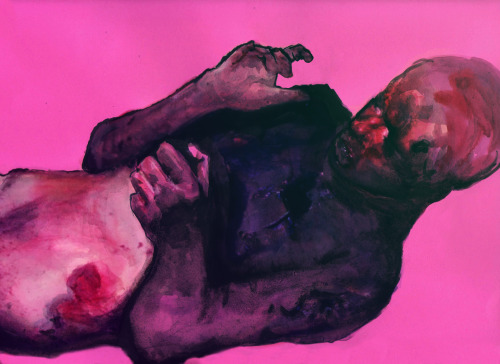 leliterati:     gericalonzo:  Geric Alonzo / Burn in pink Mixed media on paper, photoshop / 31 x 25 cm / 2013.