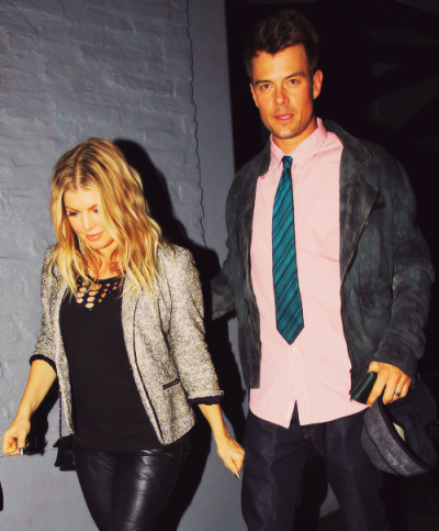 Fergie + her husband Josh Duhamel out in L.A. Satruday night…
