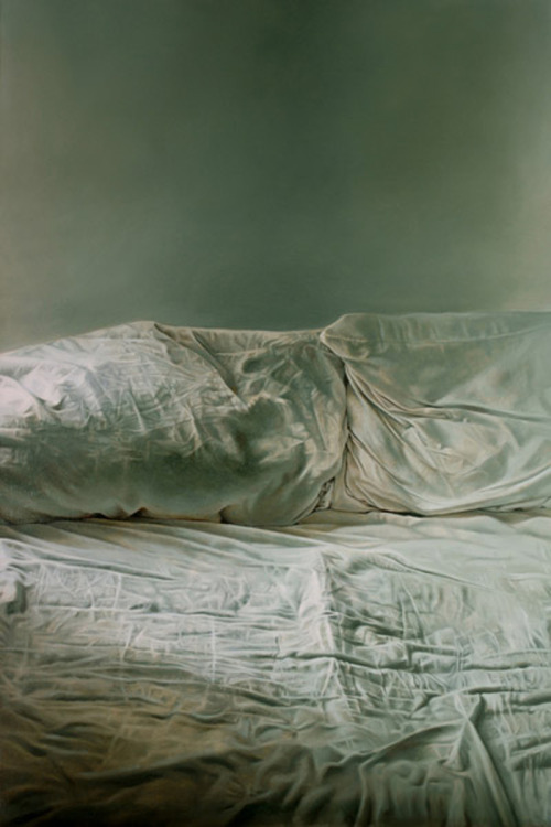 likeafieldmouse:  Helen Masacz - Empty Bed (2011) - Oil on board