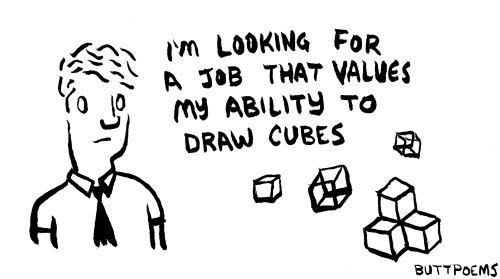 buttpoems:  A drawing about work satisfaction