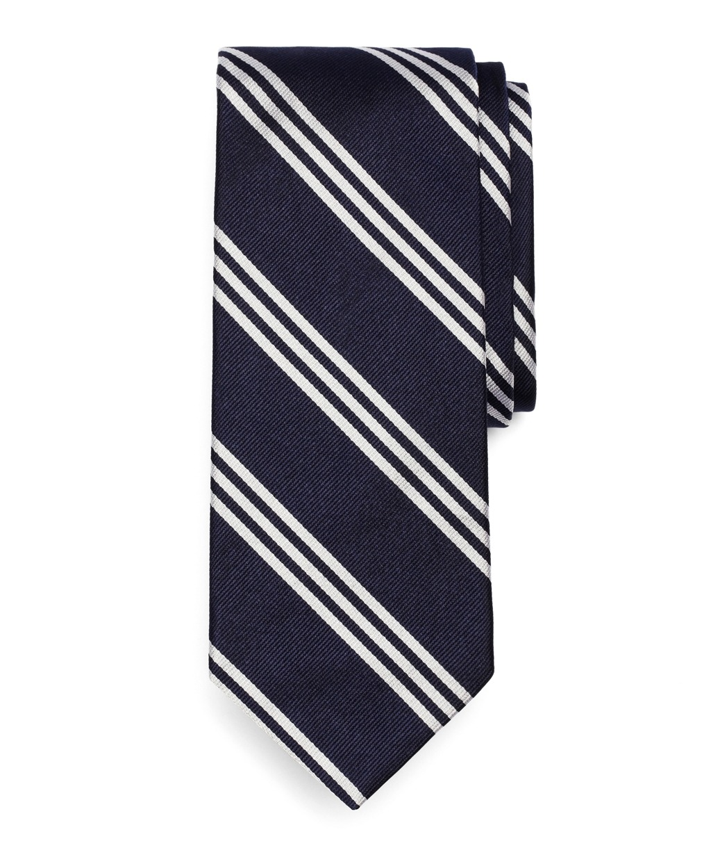 Navy BB #10 white stripe tie at Brooks Brothers