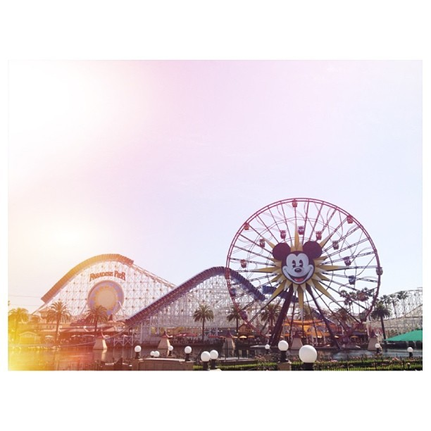 Yesterday's weather > #latepost #disneyland #dca #californiaadventure #curiouserlia ☀ > ☁☔