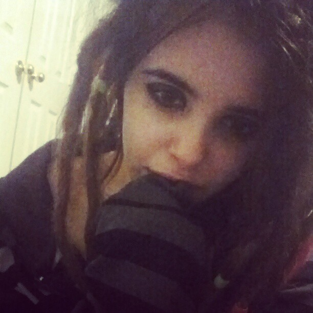 Stole his jacket c: #me #dreads #boyfriend