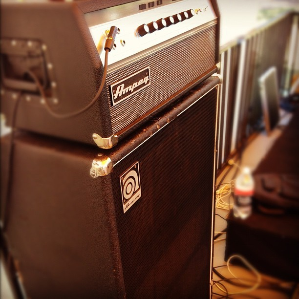 Playing with this beast. #ampeg #bass #gear #amp #muso #music #guitar #christian #christmas #lovecommunity #ios #iphone5 #iphoneography #iphoneographer #igers #igersperth #igerspinoy #igerswestoz #westoz #westernaustralia #australia #oz  (at Piney Lakes Reserve)