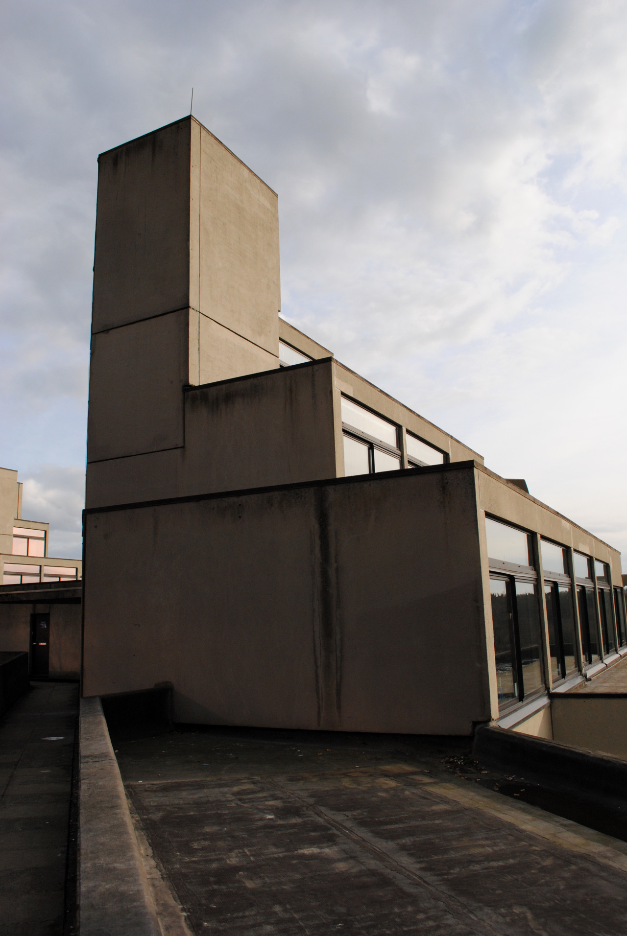 University of East Anglia, Denys Lasdun architecture. View this on the map