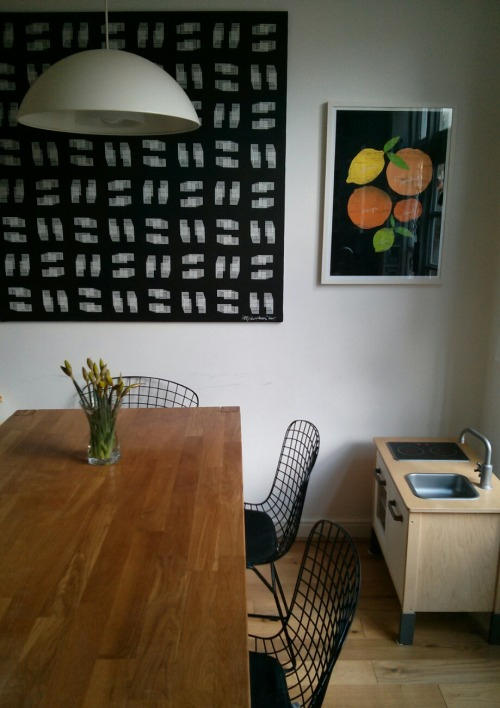Citrus Black print arrived in my dear friend's home in UK…