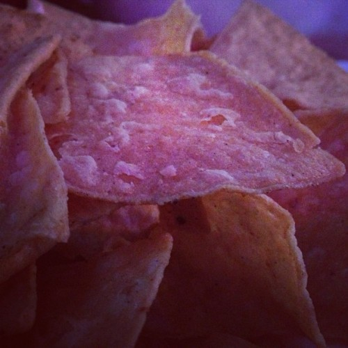 Macro tortilla chip photo… :)