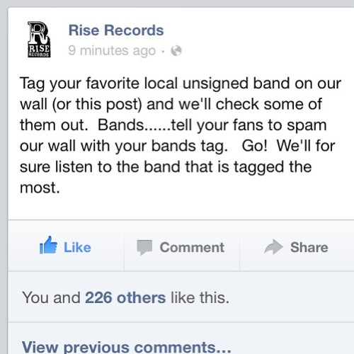 Goto www.facebook.com/grieve4tomorrow like us… And Goto rise records and tag us!