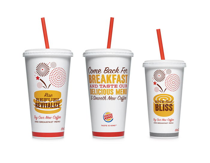 """Burger King has collaborated with Seattle's Best Coffee and Hatch Design to develop their new house new blend and has establish new packaging to complement the partnership."""