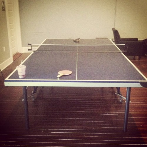 Ping pong tables are great! Just ya know… don't try to sit on them haha