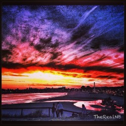 Nothing beats a #SantaCruz #Sunset!!!  (at Seabright beach)