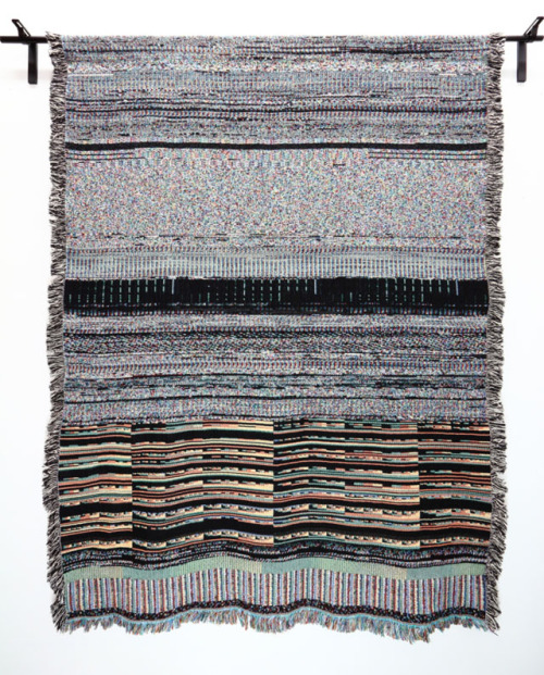 laughingsquid:  Binary Blankets, Computer Files Turned Into Woven Blankets