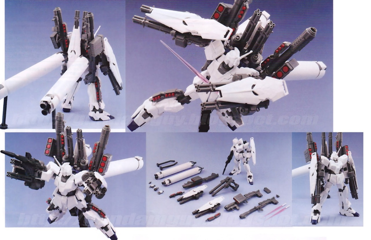HGUC 1/144 Full Armor Unicorn Gundam (Unicorn Mode). Maaaan look at that armaments.  source: gundamguy.blogspot.com