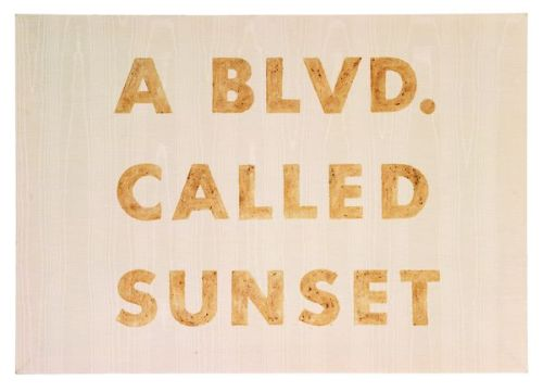 I need a print of this. I live off Sunset, yo.