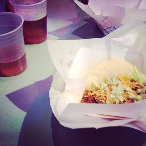 $1 tacos and $2 beers #tacos #yum #food #beer